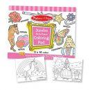 Caiet jumbo cu planse pentru colorat - Roz