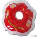Colac de inot pentru gat 0-24 luni (3-15kg) ROSU TRANSPARENT