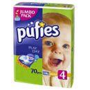 Scutece Pufies maxi nr.4; 7-18 kg (jumbo pack) 70 buc
