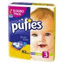 Scutece Pufies midi nr.3; 4-9 kg (jumbo pack) 82 buc